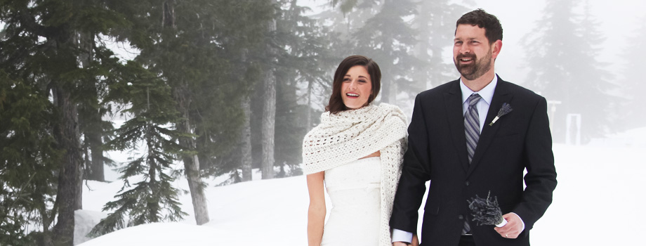 Dakota Ridge is a pristine setting to get married in the snow on the Sunshine Coast.